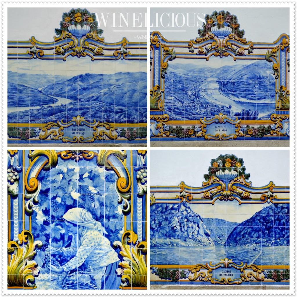 A estação dos caminhos de ferro do Pinhão é reputada pelos seus 24 painéis, compostos por 3047 azulejos.